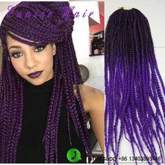 "Top Quality Crochet Braids Box braid crochet hair extension 24"""