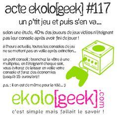 Acte ekolo[geek] #117- Un p'tit jeu et puis s'en va...