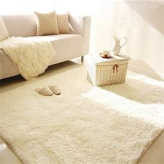 80x120cm Soft Long Plush Shaggy Carpet Area Rugs Slip Resistant Bedroom Living Room Floor Mat Doormats