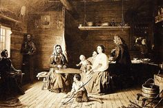 Kreeta Haapasalo Playing the Kantele in a Peasant Cottage,1868,oil on canvas, Robert Wilhelm Ekman. Still there are available Kantele-lessons as well as guitar-lessons in Finland.