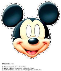 Careta mickey mouse para imprimir