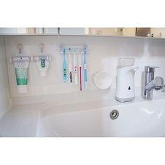 Bathroom/洗面所/収納/賃貸/歯ブラシホルダー/歯ブラシ立て...などのインテリア実例 - 2017-10-01 01:53:45