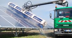 MECHANIC  WASHING, the washing allows to keep photovoltaic systems clean.
