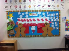 Melissa and I did the Christmas bulletin board at Nick's school for December. The kids have 15 days of school in December so under each number is a bible verse that has to do with Jesus's birth and God's love. I think we did a great job!