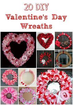 20 DIY Valentines Day Wreaths