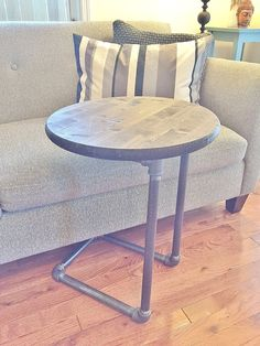 Small Table Round Table Side Table Night by BlackIronFurniture