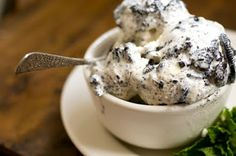 Mint chocolate cookies and cream ice cream