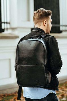 Gents Club. GHIOZDAN BARBATI NEGRU GRI MINIMALIST MODERN SOLIER FORRES Modern Minimalist, Leather Backpack, Minimalism, Vans, Backpacks, Club, Casual, Products, Fashion