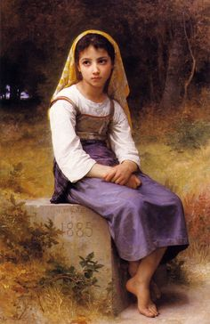 """Adolphe William Bouguereau """"Meditation"""" 1885"""