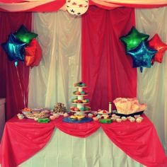 Circus Birthday Party theme. Circus tent.