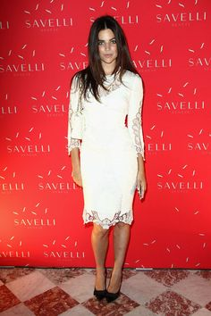 July 2013 - Julia Restoin-Roitfeld in (Look at Savelli Smartphone launch party at Jacquemart-André Museum. The Savelli campaign, modeled by Julia Restoin-Roitfeld is styled by Michaela Doasamantes and photographed by Patrick Demarchelier. Julia Restoin Roitfeld, Carine Roitfeld, Miranda Kerr, Olivia Palermo, Little White Dresses, Nice Dresses, Vogue Mexico, French Chic, French Style