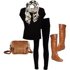 Black & Brown For Fall.