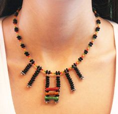 Eco Friendly Necklace Upcycled Antique Resistors by GeekeryDOO, $49.00