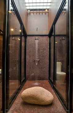 I like the black steel frames for shower enclosure-Evans House by ~ Residential design and drafting solutions for Hawaii homeowners, real estate investors, and contractors. Most projects ready for permit applications in 2 weeks or less. Modern Bathroom Design, Modern House Design, Modern Interior Design, Modern Decor, Modern Furniture, Modern Shower, Shower Enclosure, Simple House, My New Room