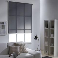 Store enrouleur tamisant polyester Mesh gris, 80/84 x 250 cm