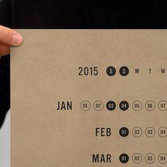 THE MADE SHOP | 2015 Linear Calendar