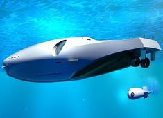 Are you kidding me - you're own personal Nautilus?  From, 'Cool Concept: U-010 Undersea Yacht'.
