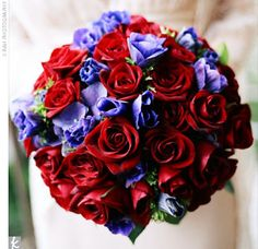 red and purple wedding images | ... red roses accented with purple blooms in keeping with her and Zach's