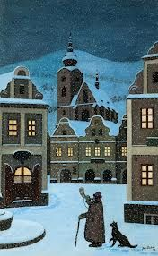 Fotogalerie: Dosavadní rekord má Ladův obraz Ponocný z roku Illustrations, Illustration Art, Art After Dark, Foto Gif, Art Brut, Naive Art, Prague, Czech Republic, Kitsch