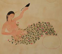 Persian garden, cm 50x60, ink on cardboard, 2015