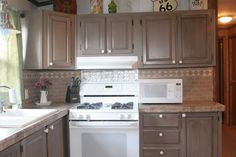 River birch rustoleum cabinet transformations rental for Birch kitchen cabinets pros and cons