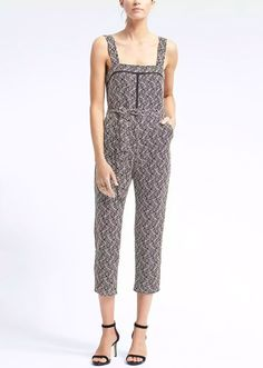 Banana Republic Womens Belted Jumpsuit With Ladder Lace Navy Print Business Casual Outfits, Modern Outfits, Casual Dresses, Fashion Dresses, Lace Romper, Weekend Wear, Jumpsuits For Women, Get Dressed, Work Wear