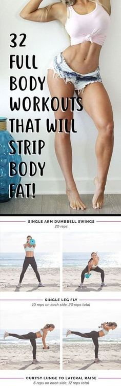 32 Full Body Workouts That Will Strip Belly Fat & Sculpt Your Whole Body! - TrimmedandToned