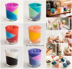 svíčka z voskovek  candle of crayons