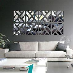 3D Gold Foil Mosaic Plaid Wallpaper Home Bar  Ceiling Wall Decor Decals Stickers