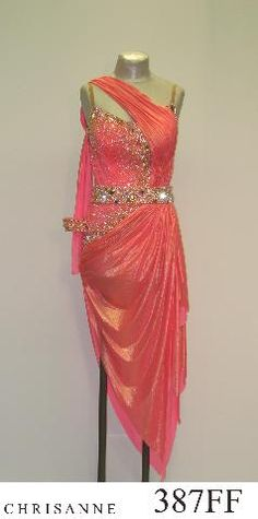 Drape styling for rainbow dress.