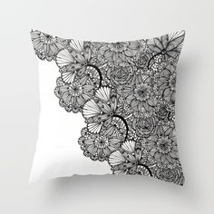 lace inspired Throw Pillow