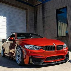 BMW F82 M4 red slammed