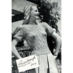 40s Vintage Knitting Patterns Sweaters and by BessieAndMaive