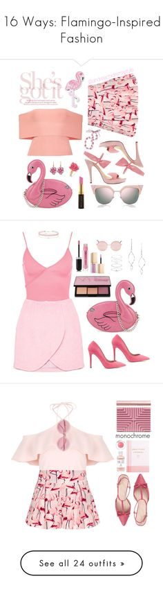 """16 Ways: Flamingo-Inspired Fashion"" by polyvore-editorial ❤ liked on Polyvore featuring waystowear, flamingofashion, RED Valentino, Skinnydip, T By Alexander Wang, Rina Limor, Kevyn Aucoin, Fendi, Marc by Marc Jacobs and R.J. Graziano"