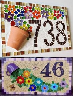 DIY Mosaic Art Ideas to Spice Up Christmas 2020 Make this jolly time of the year jollier by getting everyone around a DIY Christmas 2019 project. Create memories and memorable art that transcends generations! Mosaic Garden Art, Mosaic Tile Art, Mosaic Flower Pots, Mosaic Pots, Mosaic Artwork, Mosaic Glass, Stained Glass, Mosaic Art Projects, Mosaic Crafts