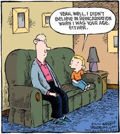 I did not believe in reincarnation when...