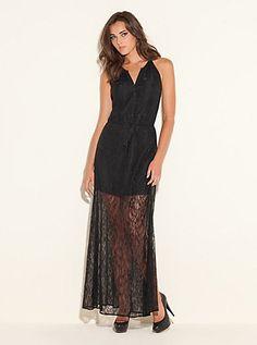 Gabriella Sleeveless Lace Dress (Jet Black). Guess. $138.00