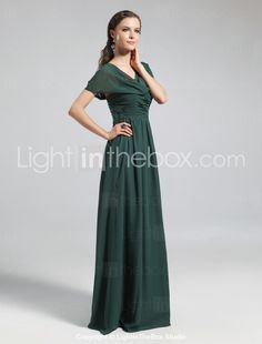 5acd1175aecc   89.99  A-Line Cowl Neck Floor Length Chiffon Bridesmaid Dress with  Draping Pleats Ruched by LAN TING BRIDE®. Vestiti FormaliAbiti ...