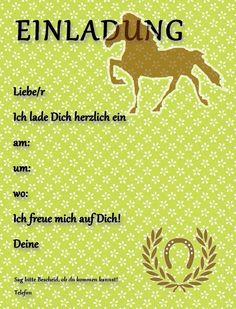 Partyleihkiste.de - Kostenlose Einladungskarten für Pferdegeburtstag oder…