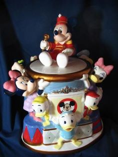Mickey Mouse Club Cookie Jar made in China by Disney Direct