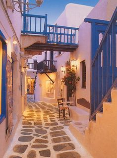 Santorini street! favorite-places-and-spaces