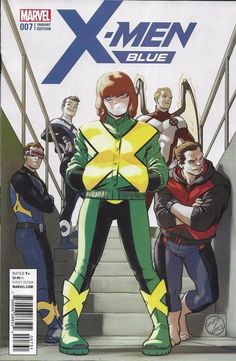 Marvel X-Men Blue comic issue 7 Limited 1 in 25 variant
