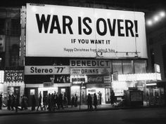 John Lennon & Yoko Ono【war is over】 | The antiwar advertisement most famous for the world probably   おそらく世界で最も有名な反戦広告