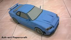 Nissan Skyline GT-R (R34) Paper Car Ver.2 Free Vehicle Paper Model Download