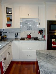 Painted White Dayton kitchen cabinets from CliqStudios.    http://www.cliqstudios.com