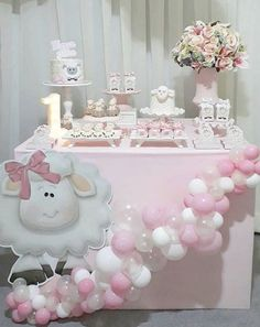 101 fiestas: Un baby shower contando ovejitas 101 Parties: A baby shower that counts sheep Shower Party, Baby Shower Parties, Baby Shower Themes, Baby Shower Decorations, Simple Baby Shower, Baby Boy Shower, Baby Birthday, Birthday Parties, Birthday Cake