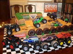 Pin by on sweet things i love monster truck birthday cake ideas coolest decorations supplies d Happy 7th Birthday, Birthday Themes For Boys, 6th Birthday Parties, Birthday Ideas, Birthday Bash, Monster Jam Cake, Monster Truck Birthday Cake, Monster Truck Party Supplies, Monster Trucks