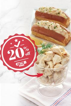 It's Crab Week; skip the shell and get straight to the meat. 🦀 Our Meribelle Jumbo Lump Crab Meat goes perfect with a fresh bun or as a main ingredient in your favorite seafood recipe. Get 20% off crab dishes when you use the promo code CRABWEEK. Lobster Gram, Crab Dishes, Crab Meat, Cheesesteak, Hot Dog Buns, Seafood Recipes, Shell, Bread, Ethnic Recipes