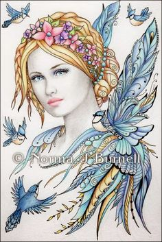 Fairy Tangles: Jaye & Feathered Friends