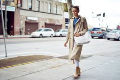 trench coat with casual outfit